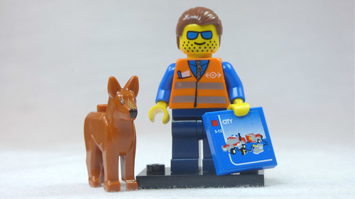 Brick Yourself Custom Lego Figure Engineer with Dog & Big Box of Lego | by BrickManDan