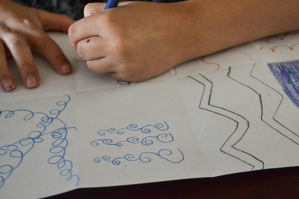 Curved Lines In Art : Art with lines making straight and curved
