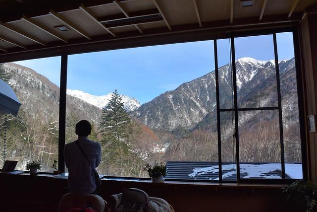 中ノ湯温泉旅館・ロビーからの眺め