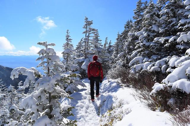 冬の黒斑山~蛇骨岳 雪山登山