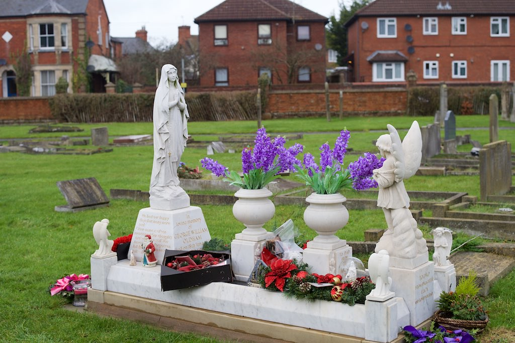 christmas decorations on the grave of george oldham by ianawood