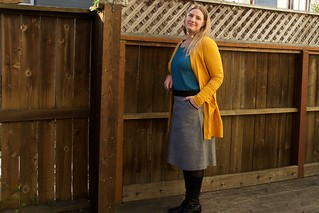 blackwood cardigan and ginger skirt | by foxthreads