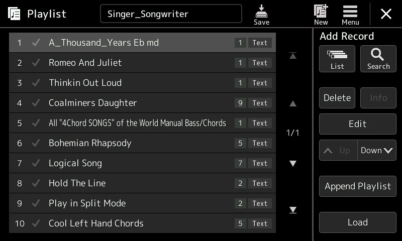 New download items - Discover playlists, Cubase patch, Tyros5 styles