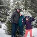 Christmas tree photobomb 2