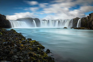 Godafoss / Long Time Exposure - Iceland | by Toine B.