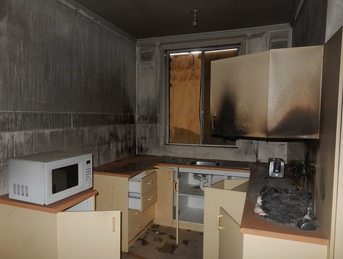Fire Damaged Kitchen | by mikecogh