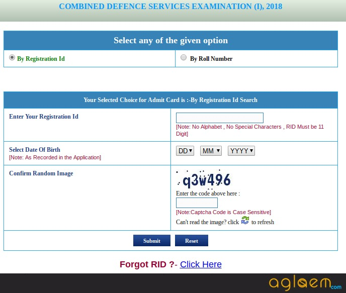 UPSC CDS (1) 2018 Admit Card - Download Here