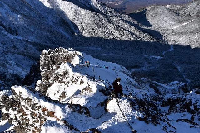 冬の地蔵尾根(八ヶ岳)雪山登山