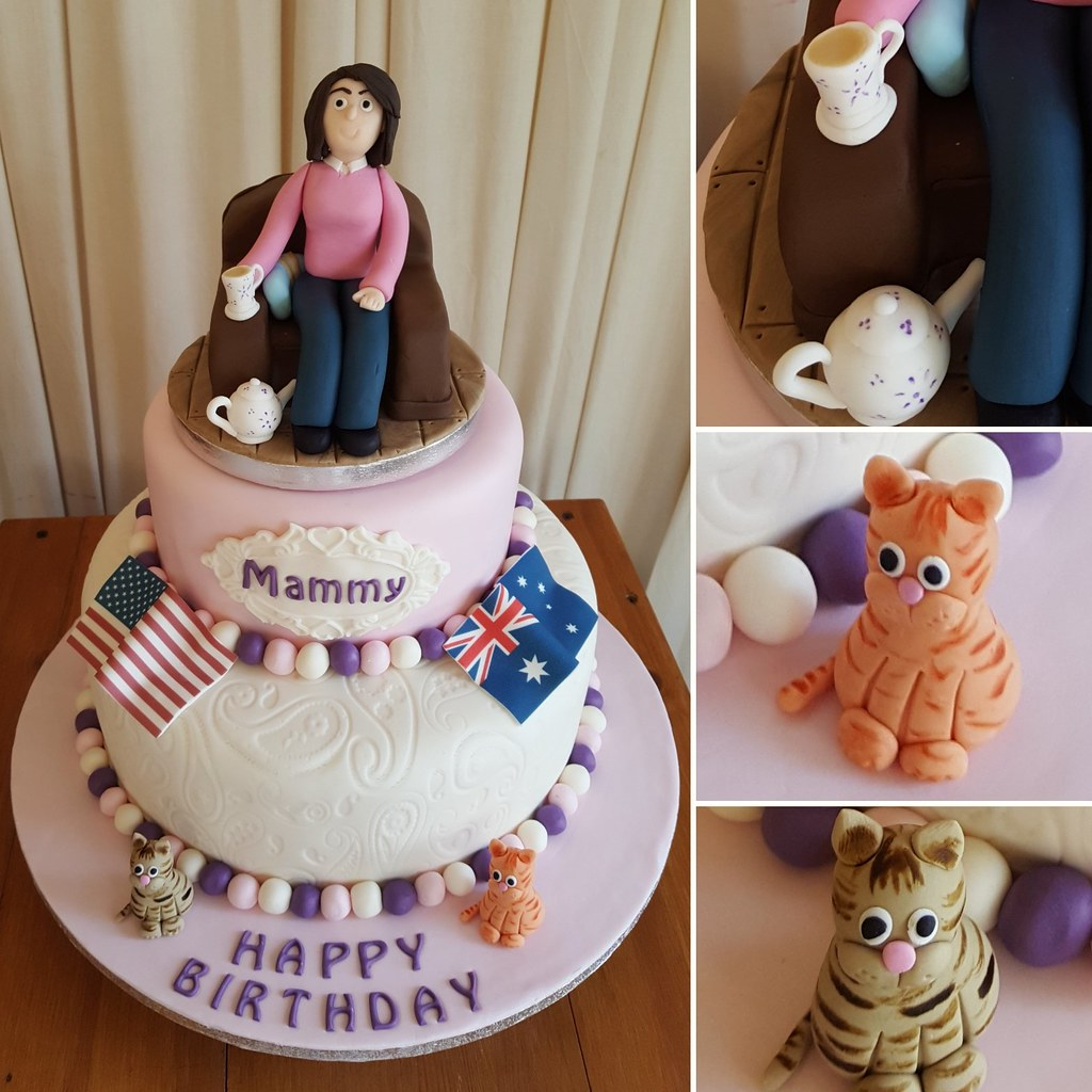 Birthday Cake For A Special Mammy Loves Her Tea Her Cat Flickr