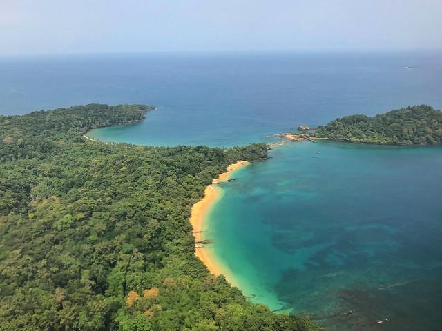 Imagen aérea del norte de Príncipe