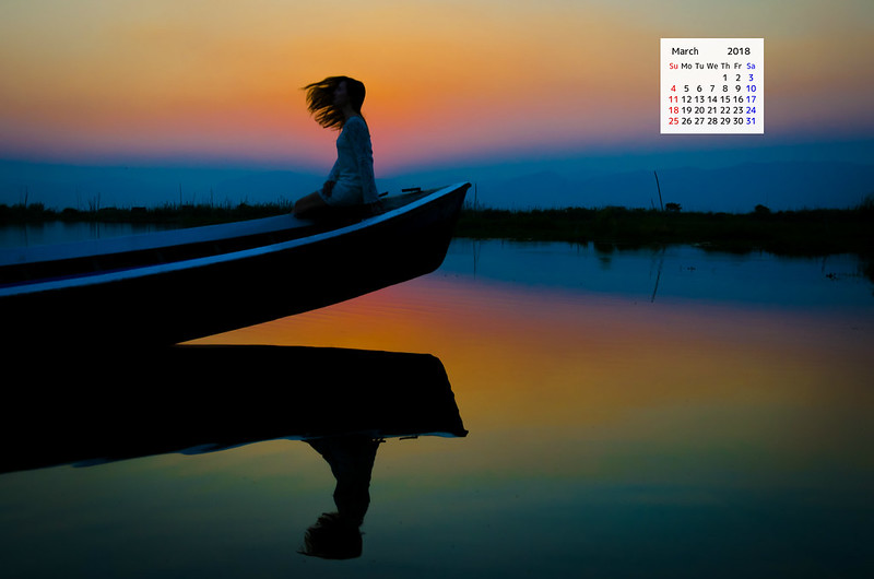 Free download March 2018 Calendar Wallpaper