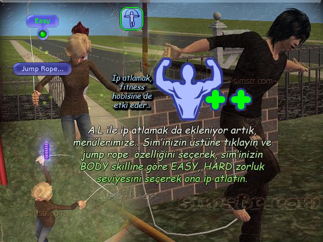 The Sims 2 Apartment Life Apartman Hayatı Jump Rope İp Atlamak