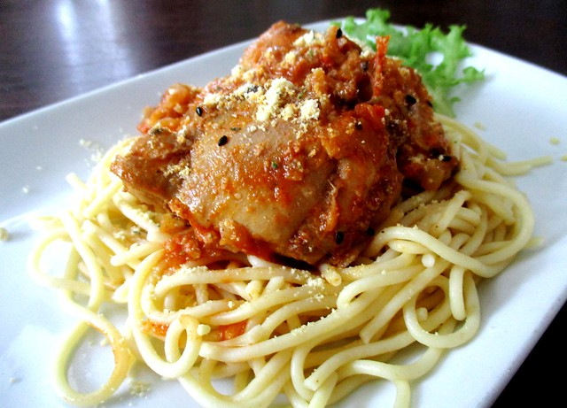Payung Cafe butter chicken spaghetti 1