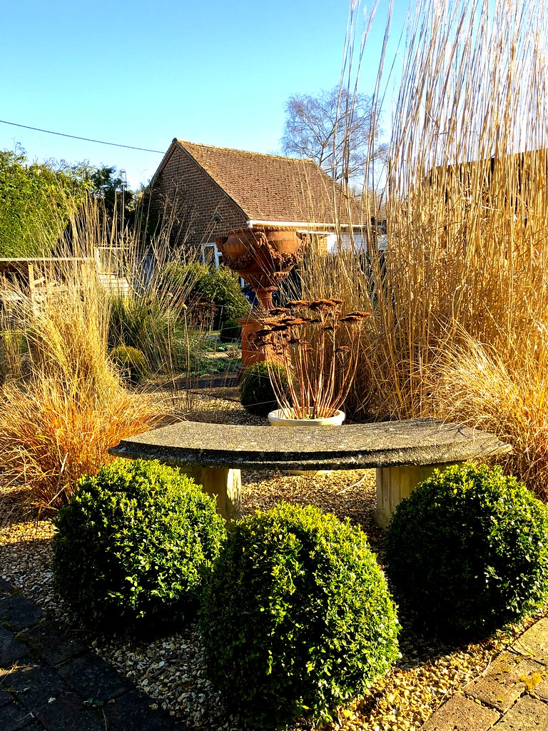 Old Swan House | The grass garden in February - sedums | Herry ...