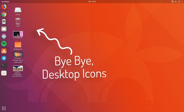 gnome-desktop-icons-removed