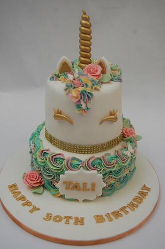 Twotiered Iconic Unicorn Cake Beautiful Birthday Cakes