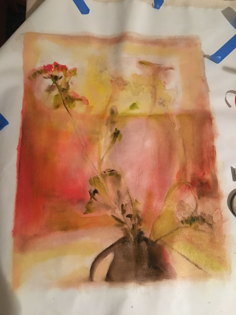 Painting on unstretched canvas - Betsyness Painting