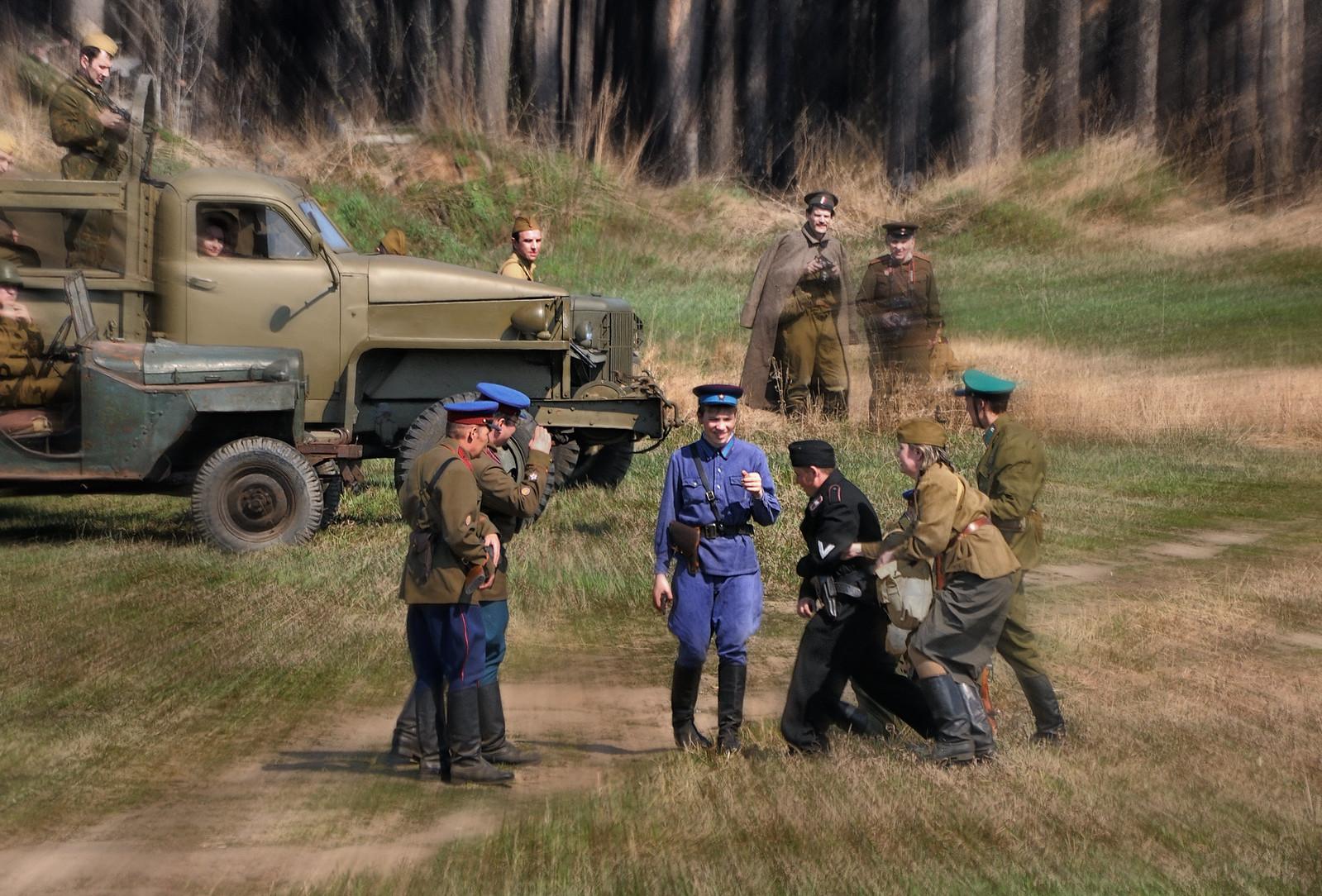 НКВД СССР в работе. Реконструкция второй мировой войны - репортажный фотограф Челябинск