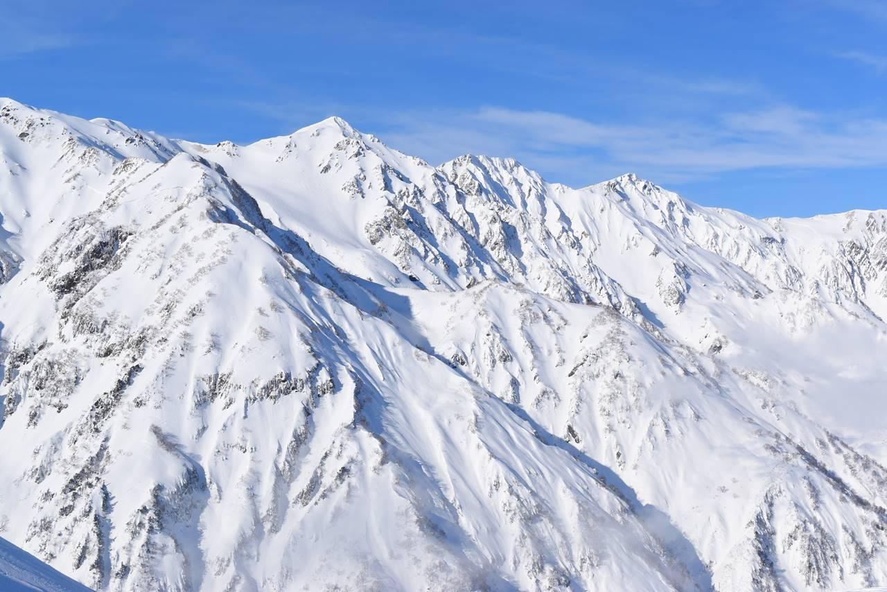 雪の北アルプス・白馬岳