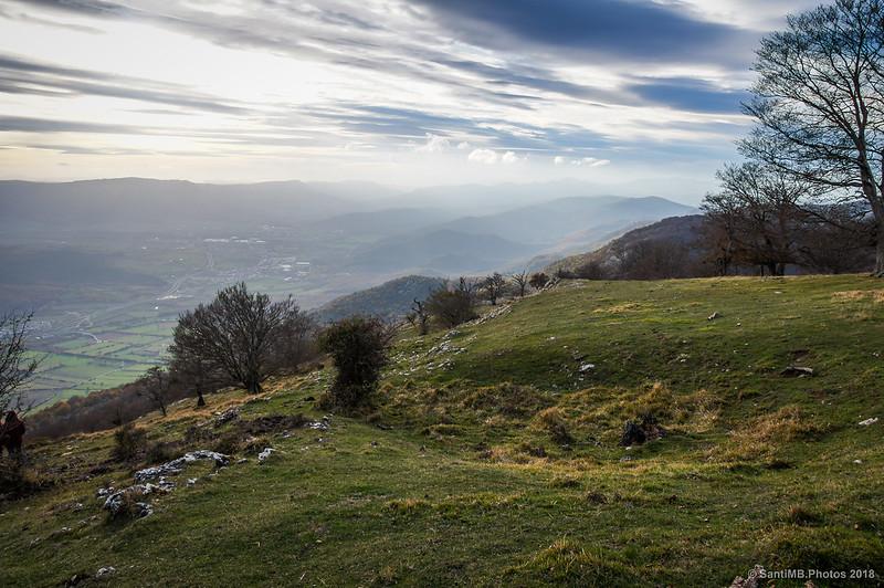 El valle de la Barranca desde San Miguel de Aralar