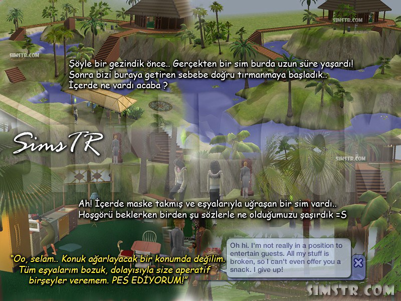 The Sims 2 Bon Voyage Twikkii Island Mysterious Hut Witch Doctor Cadı Doktor