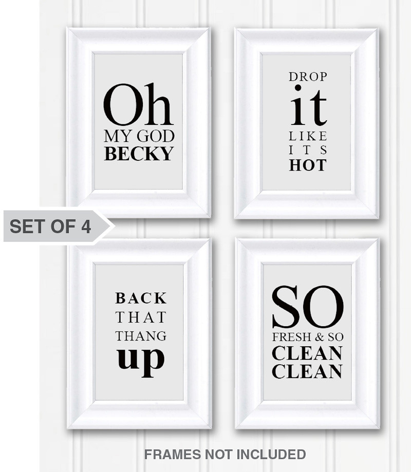 Funny Sayings Bathroom Wall Art Decor Photo - Set of 4 Whi… | Flickr