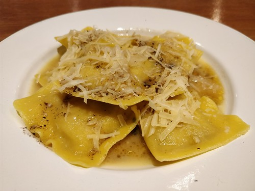 Porcini Ravioli in Burnt Butter