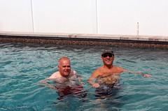 Jag och Ken i Bobs pool.