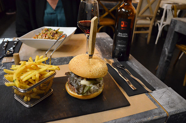 Canarian burger, Cocina Urbana, Santa Cruz, Tenerife