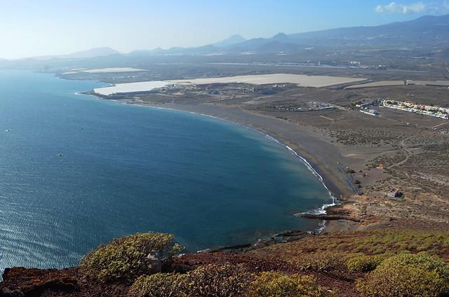 Playa de la Tejita from Montaña Roja, Tenerife