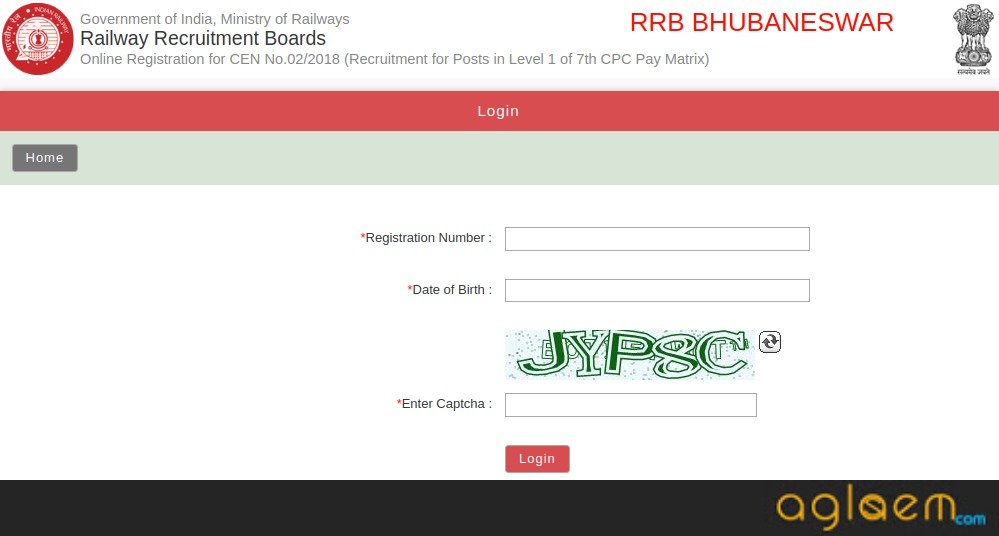 Railway Group D Admit Card 2018