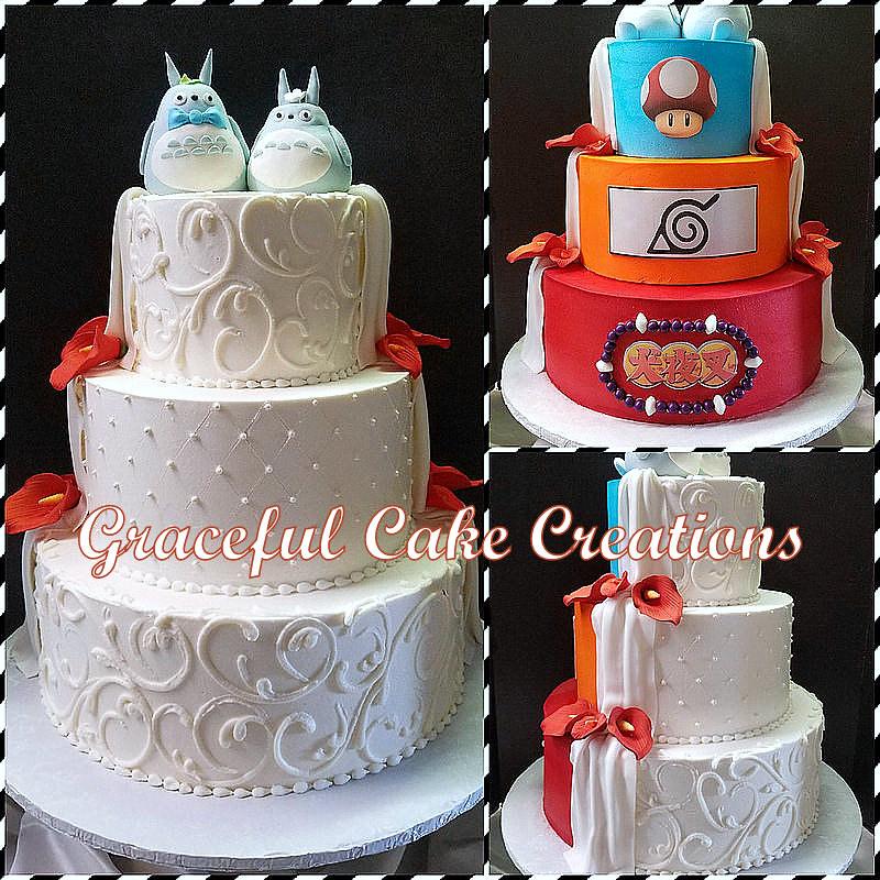 Anime Themed Wedding Cake Grace Tari Flickr