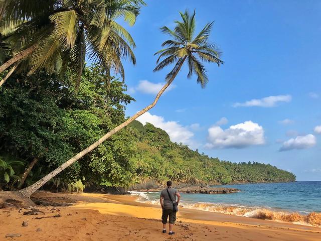 Sele en Praia Grande (isla de Príncipe)