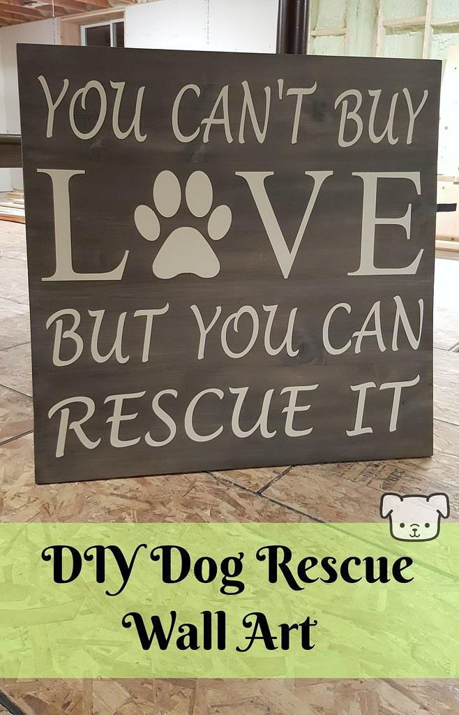DIY Dog Rescue Wall Art
