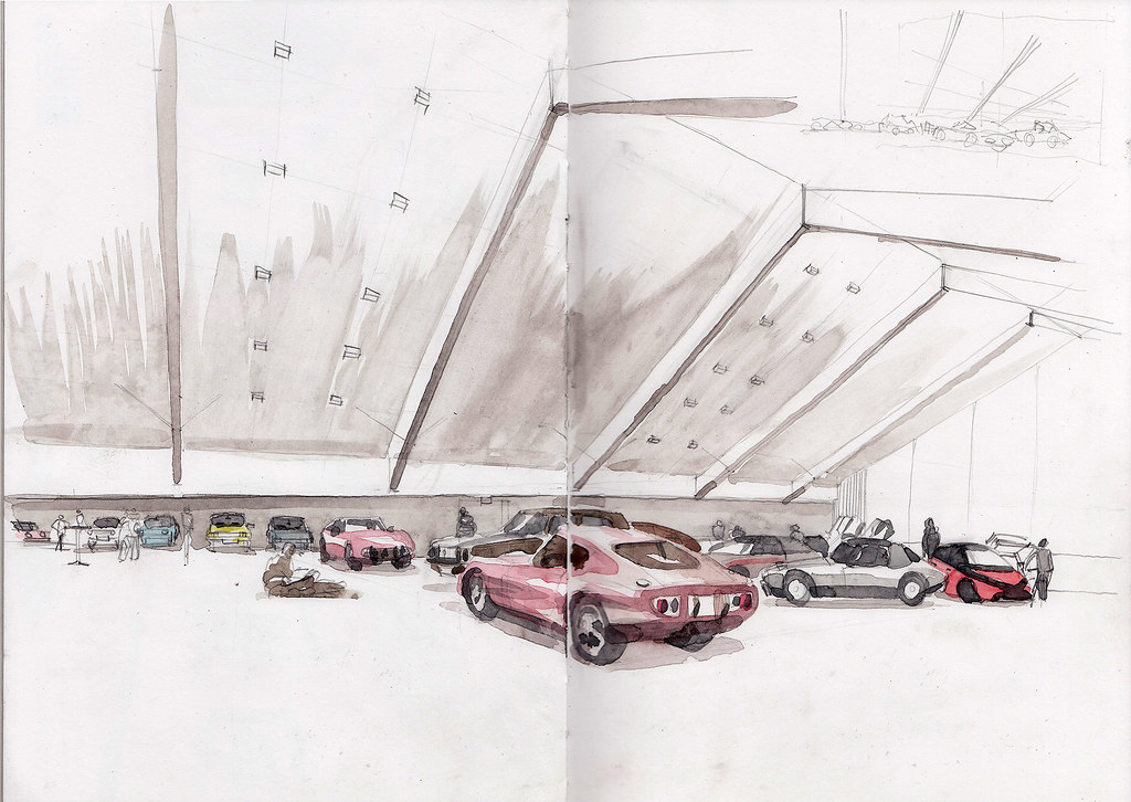 Toyota Museum Koln Marsdorf Sketching Together With Alina Flickr
