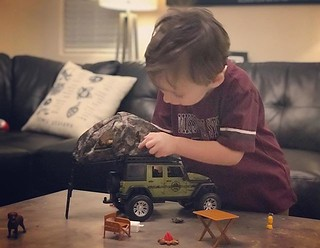 Archer's so happy to have his very own #overland jeep set. by bartlewife | by TheBartlemans
