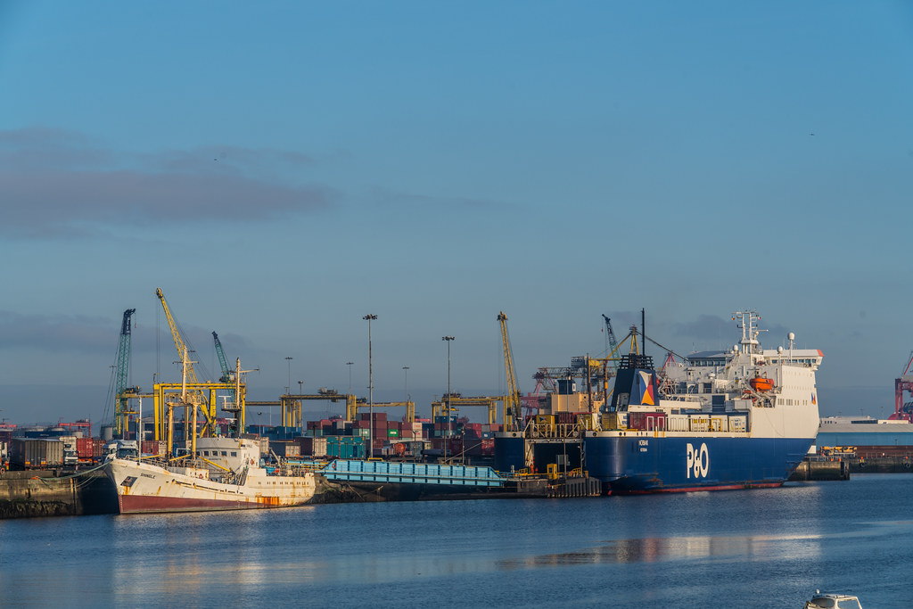 DUBLIN PORT AS SEEN FROM EAST LINK BRIDGE 002