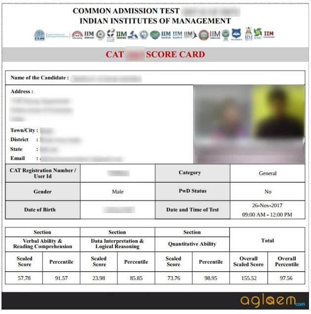 CAT Exam Result 2018