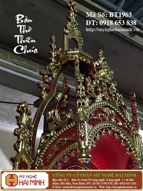 BT1964f Ban Tho Thien Chua do go mynghehaiminh