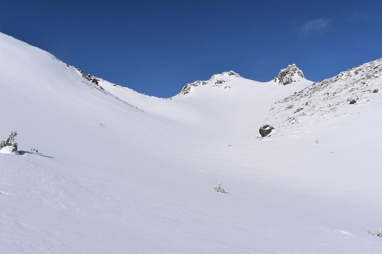 安達太良山の雪景色