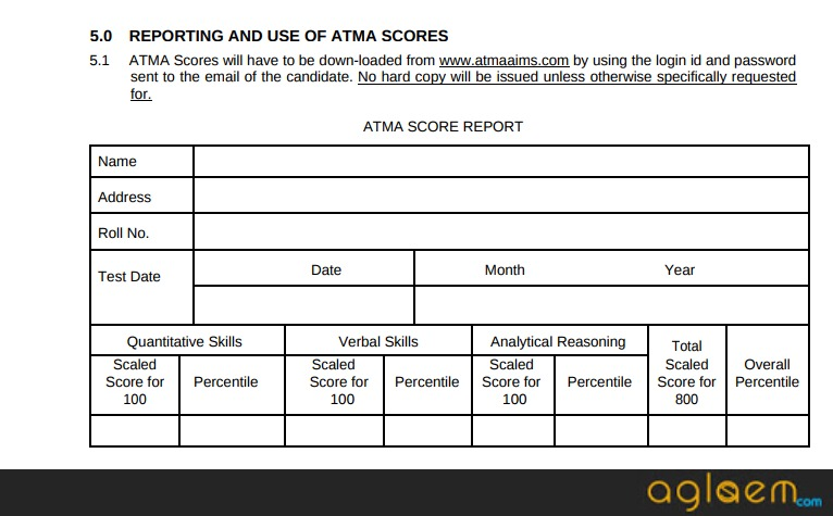 ATMA Result 2018 May 2018 – Check here