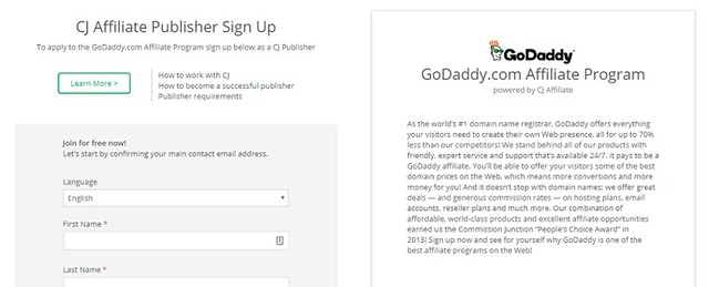 godaddy affiliate