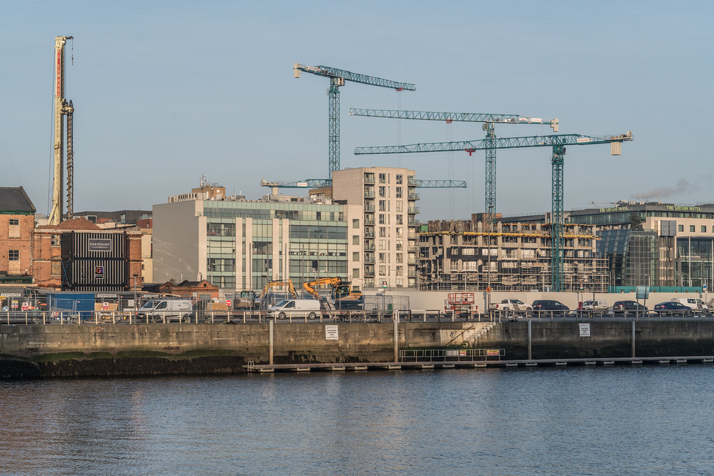 DOCKLANDS AREA OF DUBLIN - NOW A MASSIVE CONSTRUCTION SITE 002