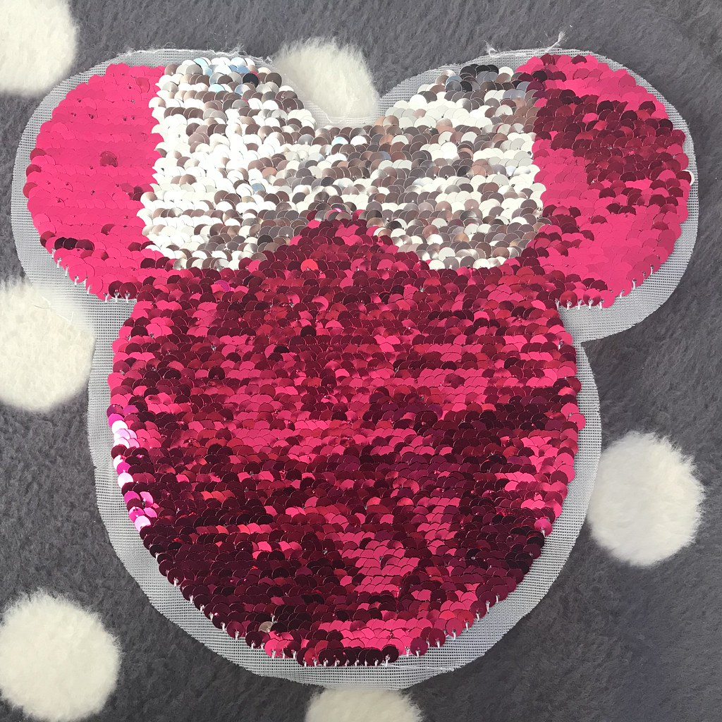 Wendepailletten-Patch Minnie Mouse, VE: 1 Stk.
