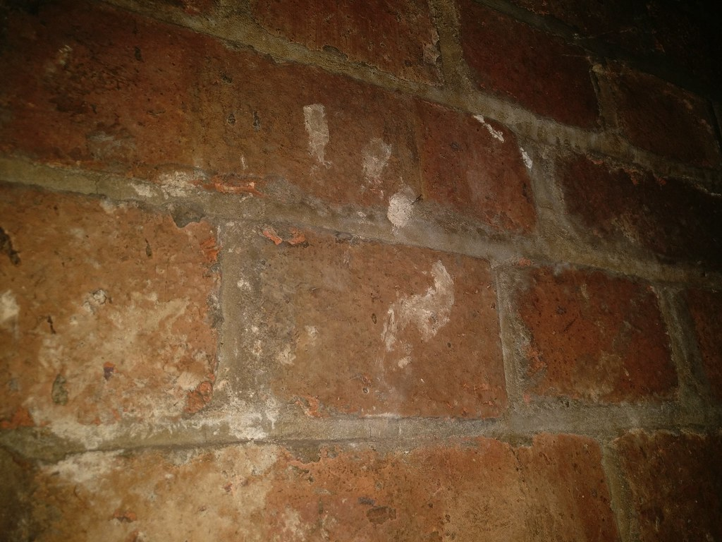 Asbestos Thermal Insulation Hand Print On Wall