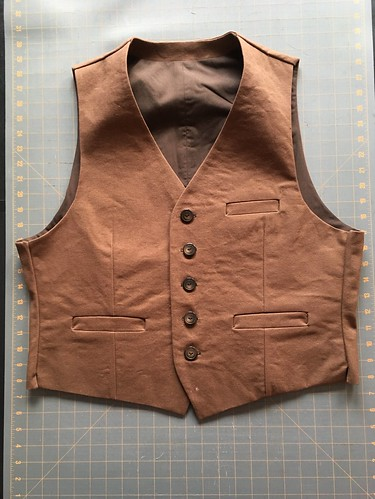 Belvedere Waistcoat in duck canvas and broadcloth | by patternandbranch
