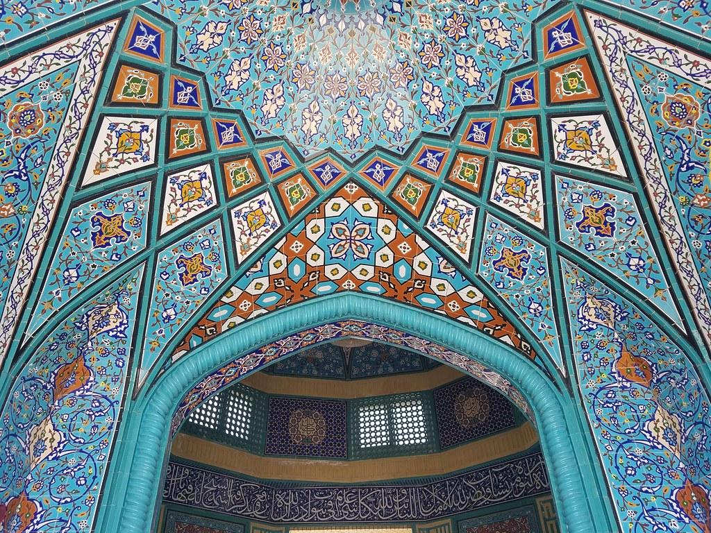 Mosque Detail: Mosque Ceiling Detail, Tehran Iran