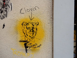 Clown/Fuck Donald Trump | by aestheticsofcrisis