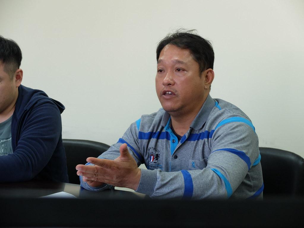 苗栗縣生態保育科技工徐國楨。攝影:林睿妤。