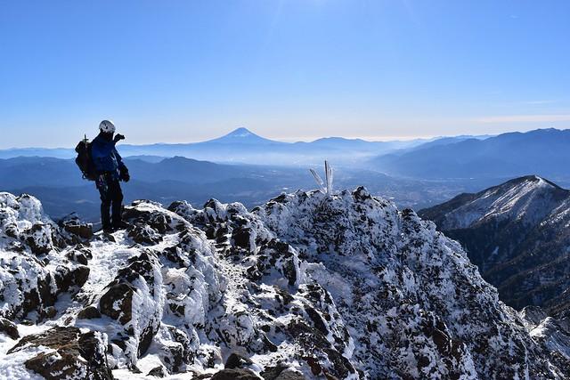 赤岳山頂からの富士山